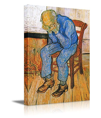 Sorrowing Old Man (At Eternity's Gate) 1890 by Vincent Van Gogh Print Famous Oil Painting Reproduction
