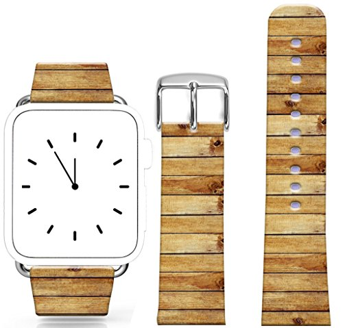 (Band for Iwatch 38mm/40mm Series 1/2/3/4 / Topgraph Compatible Replacement Leather Strap for Apple Watch 38mm/40mm Fun Creative Special Cool Mosaic Wood)