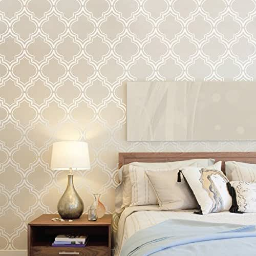 Amazon.com: Moroccan Double Large Wall Stencil - XL Size ...