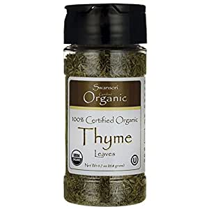 Swanson 100% Certified Organic Thyme Leaves 0.7 Ounce (19.8 g) Pwdr