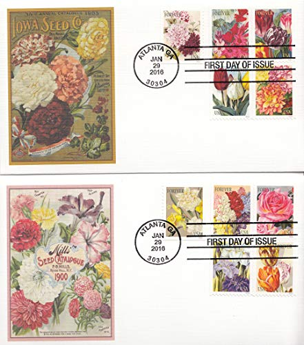 Botanical Art Forever Stamps Collectible Fleetwood First Day Cover Cachet FDC 5042-51