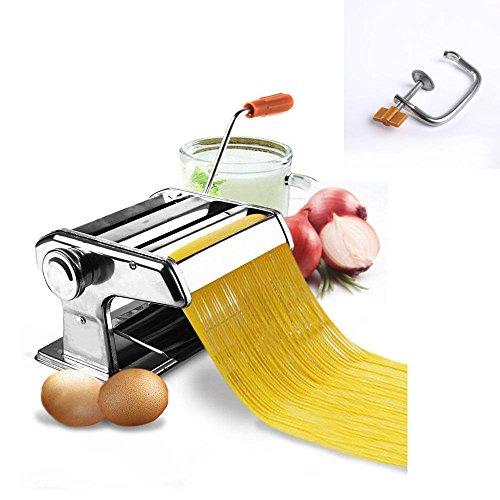 Stainless Steel Fresh Pasta Maker Roller Machine for Fettuccine Spaghetti Noodle