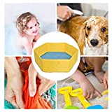 blue-net Pet Pool Dog Pool, Doggy Pool Foldable Shower Bathing Bathtub for Small Medium Dogs Cats Puppy Pet Bathing Pool Protable for Travel Camping Outdoor Indoor,80 cm X 30 cm Designer