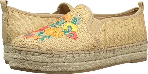 Multi Ballet Women's Natural Basket Bright Raffia Sam Raffia Weave Flat Riveria Carrin Edelman Floral ZqwTWx6av