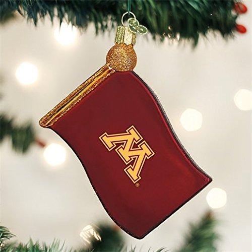 Old World Christmas University of Minnesota Flag Glass Blown Ornament (Minnesota Series Alumni)