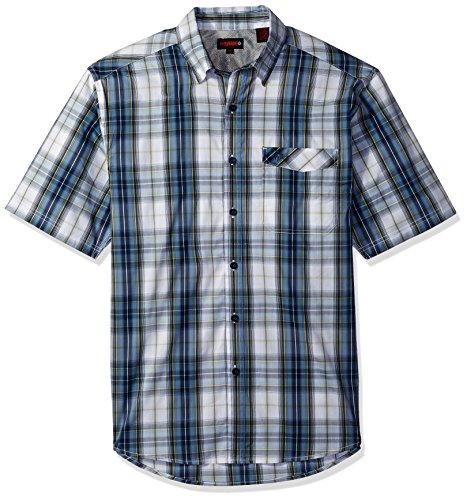 - Wolverine Men's Angler Performance Stretch Short Sleeve Shirt, Creek Plaid, XX-Large