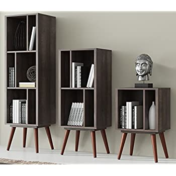 three tall preston marketing systems bookcase com collection shelf cubby dp standing contemporary four white amazon target
