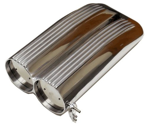 Proheader PA705 - Finned Aluminum Shotgun Air Scoop Single or Dual 4 Barrel Carb