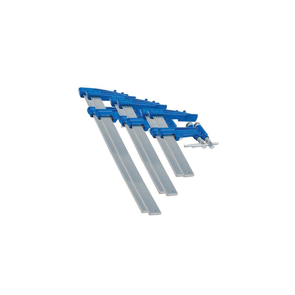 Urko - 6 serre-joints à pompe 3-P (35 x 8) saillie de 120 mm - 2 x L. 40 cm, 2 x L. 60 cm, 2 x L. 80 cm - 8590003 - Urko