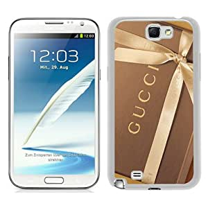 New Fashionable And Durable Designed Case For Samsung Galaxy Note 2 N7100 With Gucci 44 White Phone Case