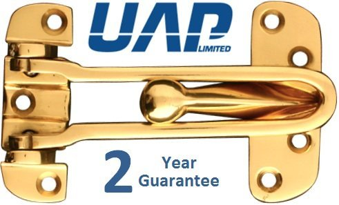 Extra Strong Door Restrictor in Polished Brass UAP