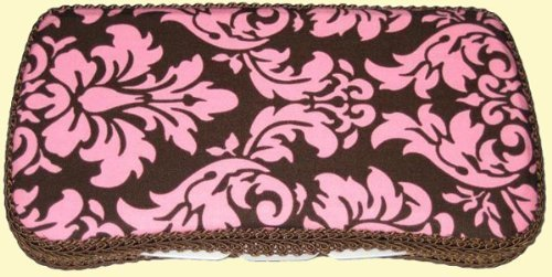 Made by Angie - Handmade Baby Wipe Containers - Cocoa Damask by Made by Angie