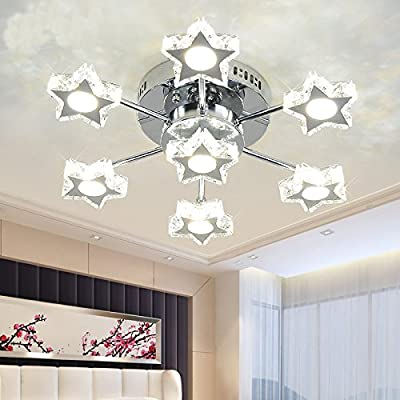LightInTheBox LED Crystal Lamp Living Room Lamp Star Bedroom Lamp LED Ceiling Lamp Lighting Fixture Chandeliers