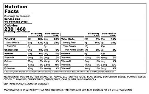 Protein Puck Bar, Gluten Free, Vegan, Non Gmo, Fiber Rich, Non-dairy, Peanut Butter - Almond - Cranberry, 24 Count