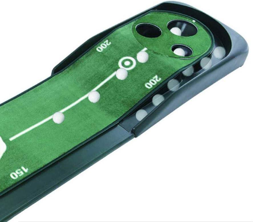 フライゴルフパッティング練習 – 3穴デザイン – ゴルフインドアグリーン練習ブランケット 長さ118インチ