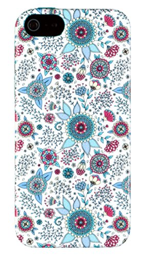 iPhone 5 / 5S Case, DandyCase PERFECT PATTERN *No Chip/No Peel* Flexible Slim Case Cover for Apple iPhone 5 / 5S - LIFETIME WARRANTY [Colorful Spring Flowers]