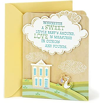 Hallmark Baby Shower Greeting Card (Stork And House)