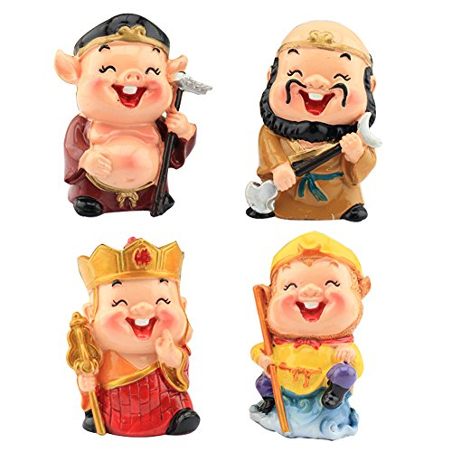 HKJCstore 4PCS Automotive Decoration Journey to the West, Resin Monkey, Monkey King/Sun Wukong, Pig (Sun Wukong Journey To The West Art)