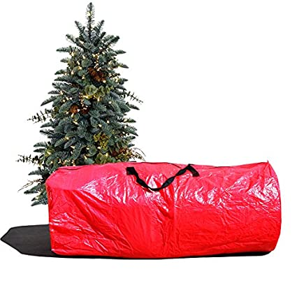 BenefitUSA Heavy Duty Large Artificial Christmas Tree Carry Storage Bag Holiday Clean Up to 9' (Red)