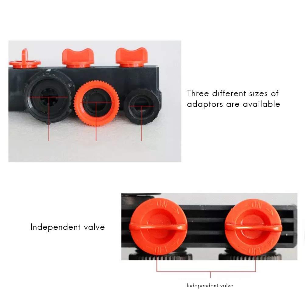 Raccordo a 4 Vie per Rubinetto Surenhap connettori di Tubi di irrigazione per Giardini Domestici agricole