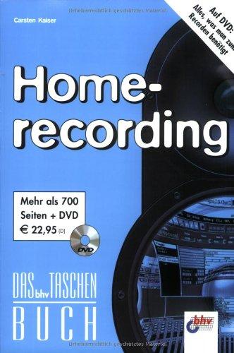Homerecording, Das bhv Taschenbuch, m. DVD