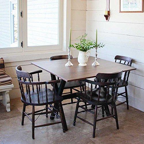 Dark Wood Kitchen Table: Nathan James 41001 Kalos Solid Wood Drop Leaf