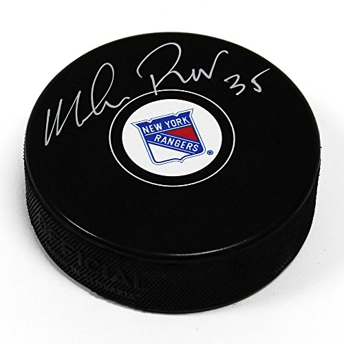 Mike Richter New York Rangers Signed Autograph Model Hockey Puck from J World New York