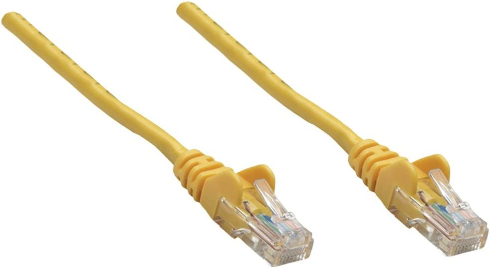 INTELLINET 319805 CAT-5E UTP Patch Cable 10 10ft Yellow INTELLINET 319805 CAT-5E UTP Patch Cable
