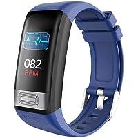 ELYSYSRL Pulsera Inteligente Monitores De Actividad IP67 Impermeable Podómetros Presión Sanguínea Pulsómetros Electrocardiograma+PPG Al Aire Libre Smartwatch