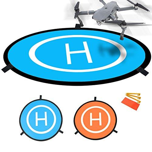 "Drones Landing Pad,Homga Universal Waterproof D 75cm/30"" Portable Foldable Landing Pads For RC Drones Helicopter, PVB Drones, DJI Mavic Pro Phantom 2/3/4/ Pro, Antel Robotic, 3DR Solo & More"