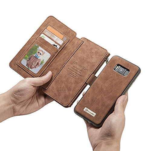 Galaxy S8 Wallet Case, Galaxy S8 Case,KingTo Flip Stand Smart Wallet Cover PU Leather Credit Card Slot Cash Holder Protective Case for Samsung Galaxy S8 5.8'', Light Brown by KingTo (Image #5)