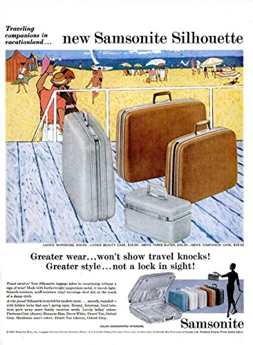 ORIGINAL *PRINT AD* 1959 SAMSONITE SILHOUETTE TRAVEL LUGGAGE