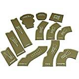 LITKO Gaslands Template Set, Translucent Bronze (12)