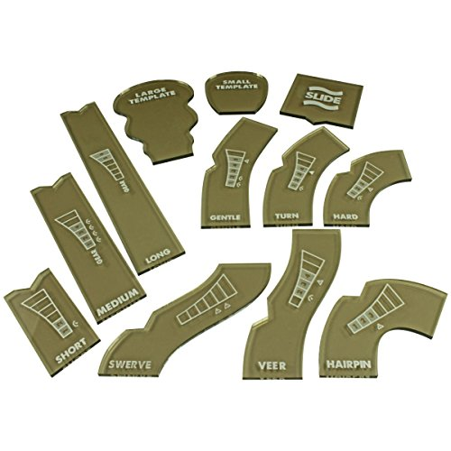 Litko Game Accessories GASLANDS Template Set, Translucent Bronze (12) by Litko Game Accessories