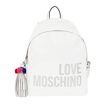 048d8bdf5a5e0 Amazon.com  LOVE MOSCHINO Logo Print Backpack with Keychain Charm ...