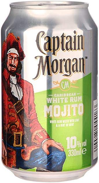 Captain Morgan White Rum Mojito Einweg 12x 0 33 L Amazon De Bier Wein Spirituosen