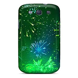 New Arrival Green Fireworks 2 NUcwBoZ6490qIubI Case Cover/ S3 Galaxy Case
