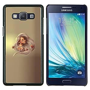 Princesa rubia- Metal de aluminio y de plástico duro Caja del teléfono - Negro - Samsung Galaxy A5 / SM-A500