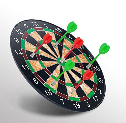 minihorse-magnetic Dart Board丈夫安全プラスチック翼磁気ダーツターゲットゲームおもちゃ(赤緑)Gifts for Kids