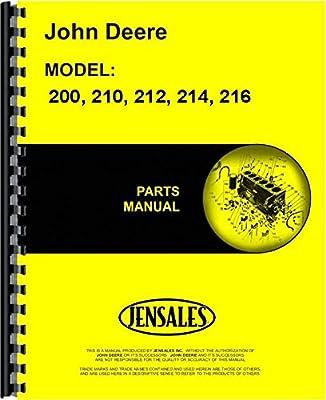 John Deere 200 210 212 214 216 Lawn Garden Tractor Parts