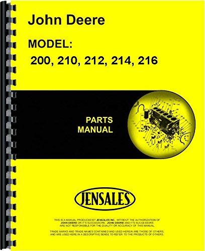 John Deere 200 210 212 214 216 Lawn & Garden Tractor Parts Manual
