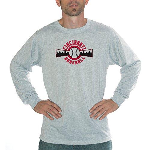 My City - Cincinnati Baseball Performance Long Sleeve Shirt (Mlb Ballpark Long Sleeve)
