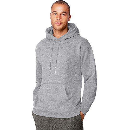 Hanes Men's Ultimate Cotton Heavyweight Pullover Hoodie_Oxford Grey_XL