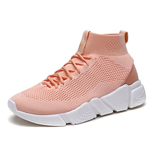 09 Running Shoe (DREAM PAIRS Women's 170845W Pink Sakura Lightweight Breathable Fashion Sneakers Sport Walking Shoes Size 9 B(M) US)