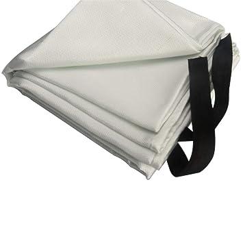 Cobertor de protección contra incendios para molienda y soldadura, manta protectora de fibra de vidrio, manta de seguridad ignífuga Tamaño libre blanco: ...