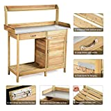 Giantex Potting Bench Table for Outside Natural