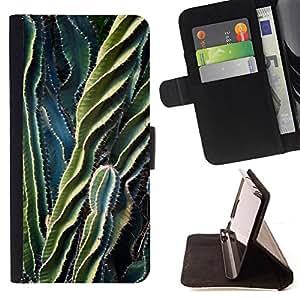 "For Motorola Moto E ( 2nd Generation ),S-type Planta Verde Desierto Espina"" - Dibujo PU billetera de cuero Funda Case Caso de la piel de la bolsa protectora"