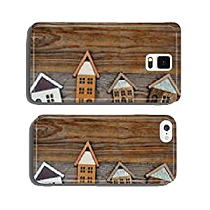 house on wooden background cell phone cover case Samsung S5