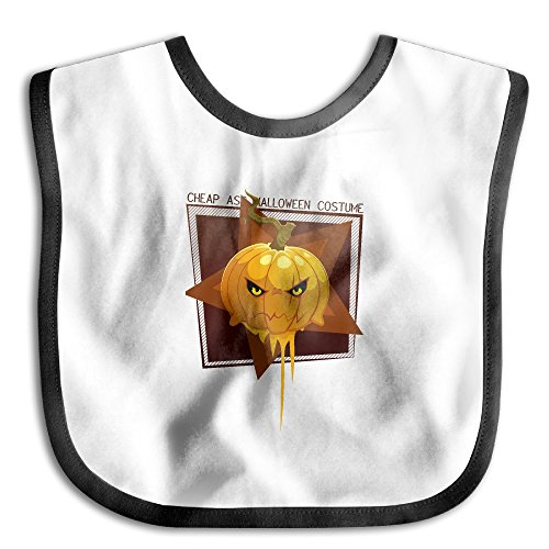 Cheap Ass Halloween Costume Pumpkin Stylish Baby Soft Sliva Bibs