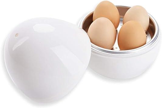 Cocedor de huevos Cuece huevos para microondas con recetario,capcacidad 4 huevos